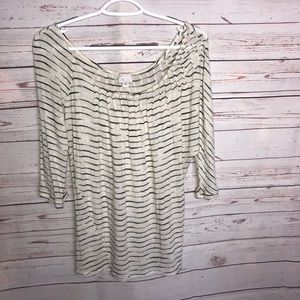 Anthropologie Postmark Striped Top Size S